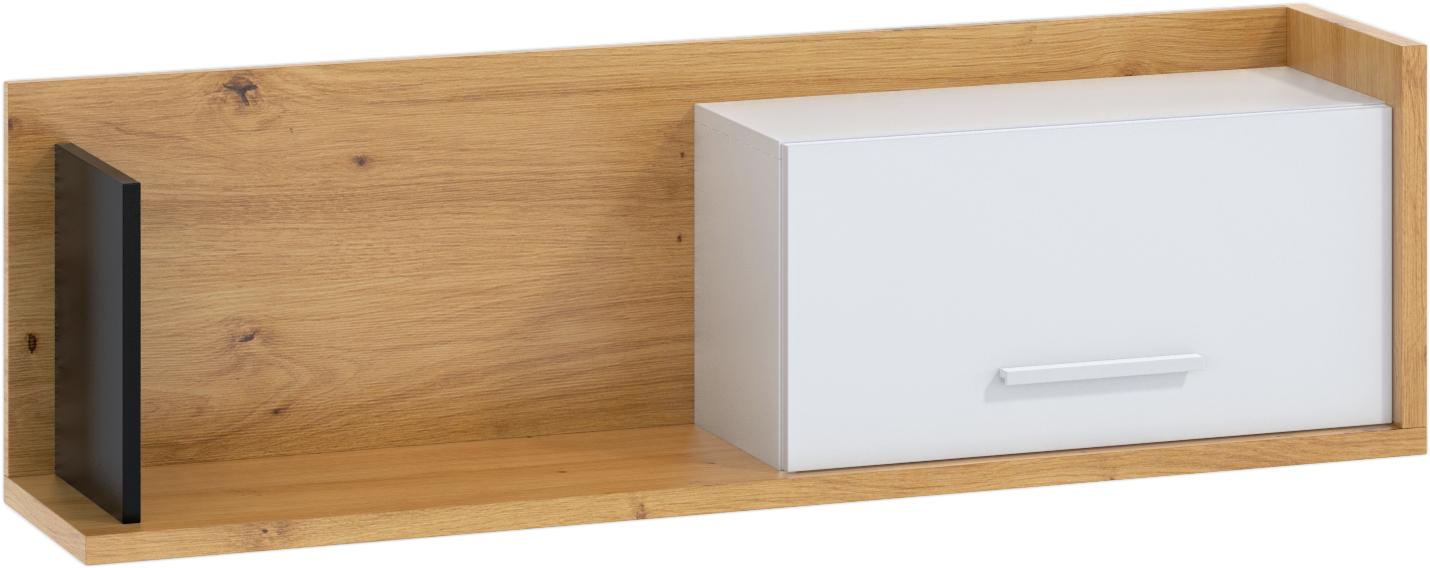 WIP Polica so skrinkou 1D BOX-11 Farba: dub artisan / biela / čierna