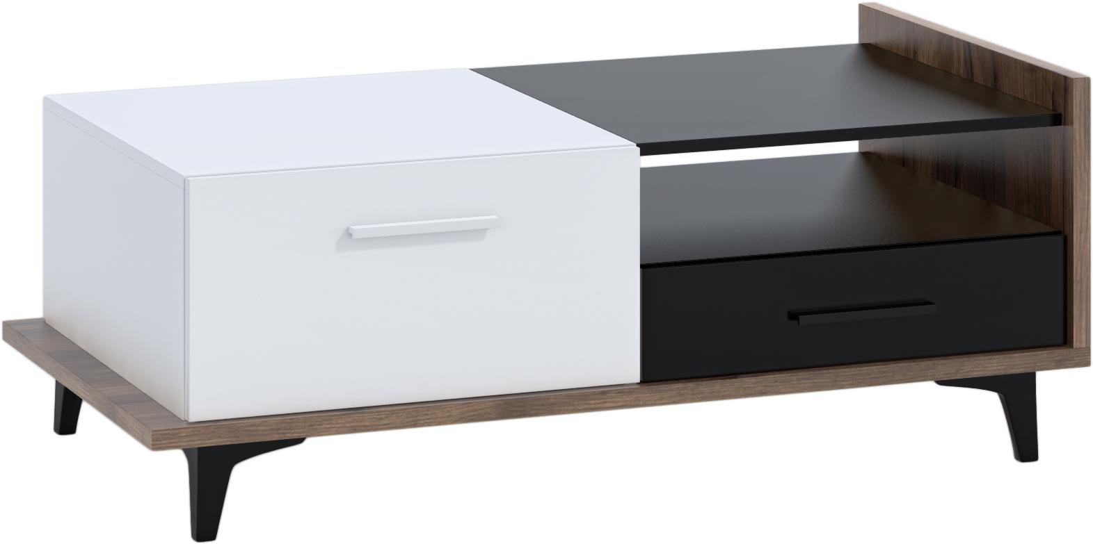 WIP Konferenčný stolík 2D2S BOX-03 Farba: craft tobaco / biela / čierna
