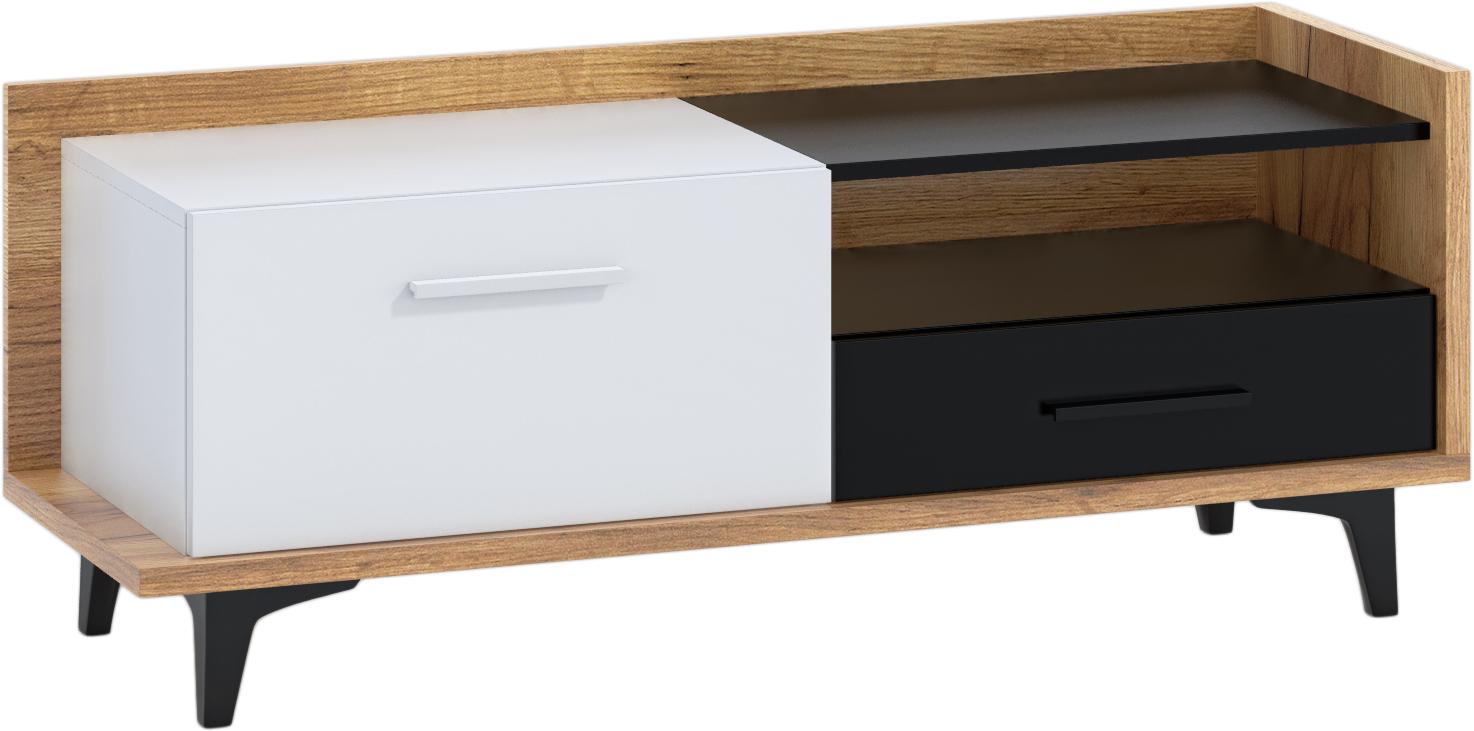 WIP TV stolík 1D1S BOX-08 Farba: craft zlatý / biela / čierna