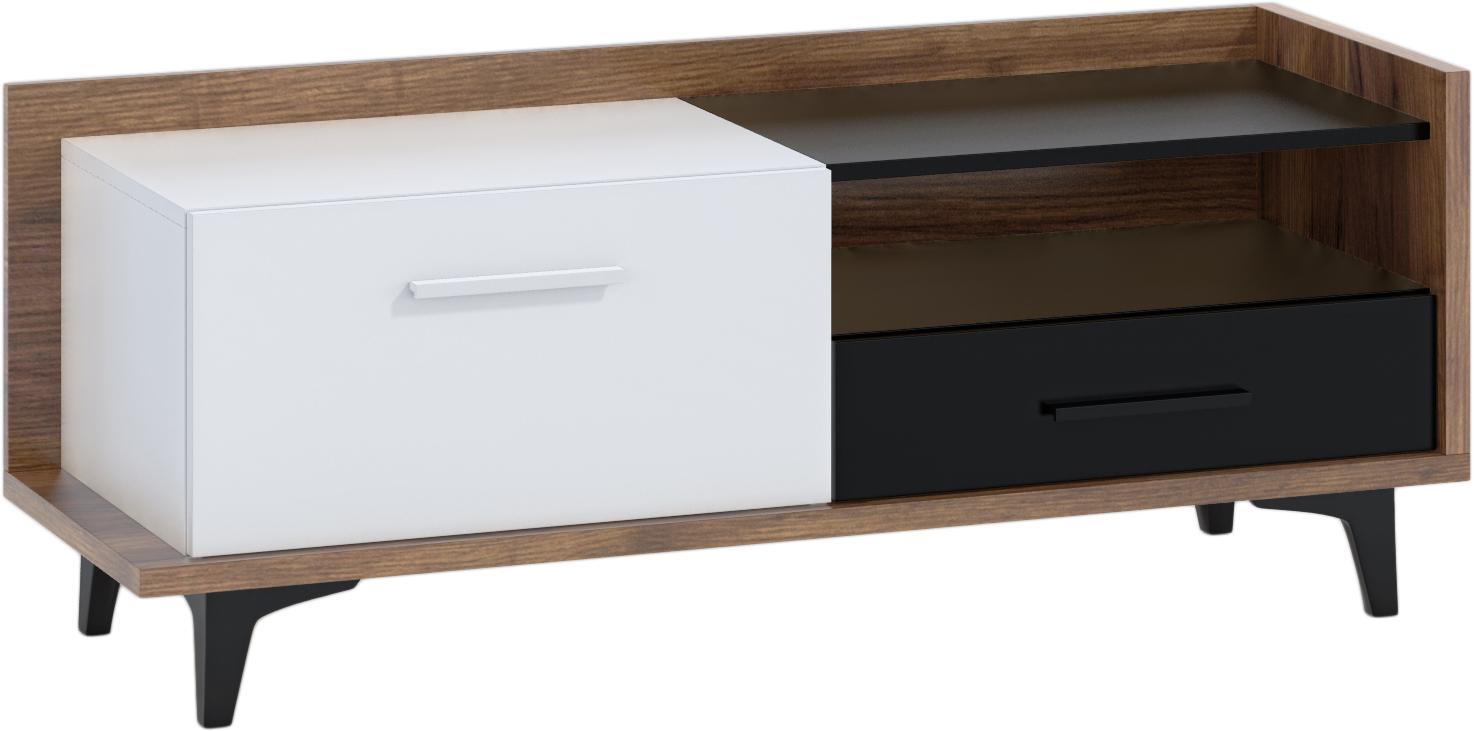WIP TV stolík 1D1S BOX-08 Farba: craft tobaco / biela / čierna