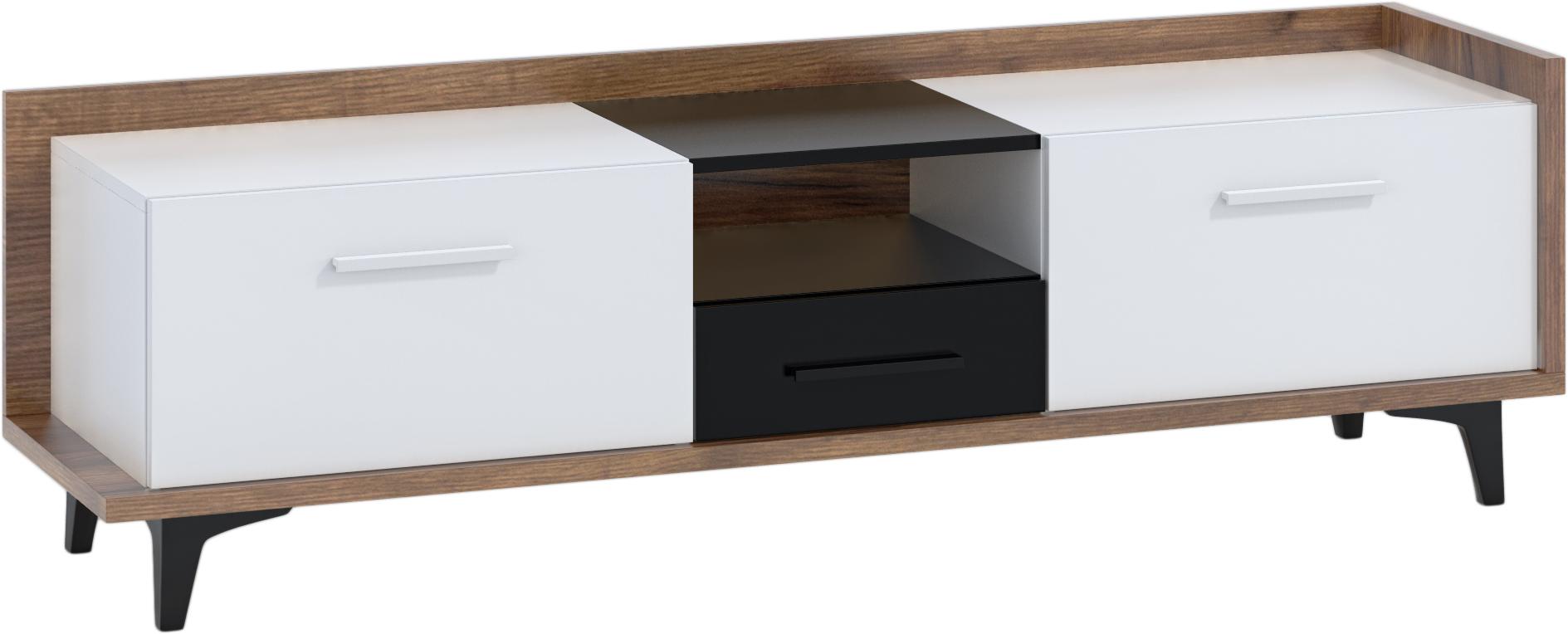 WIP TV stolík 2D1S BOX-09 Farba: craft tobaco / biela / čierna
