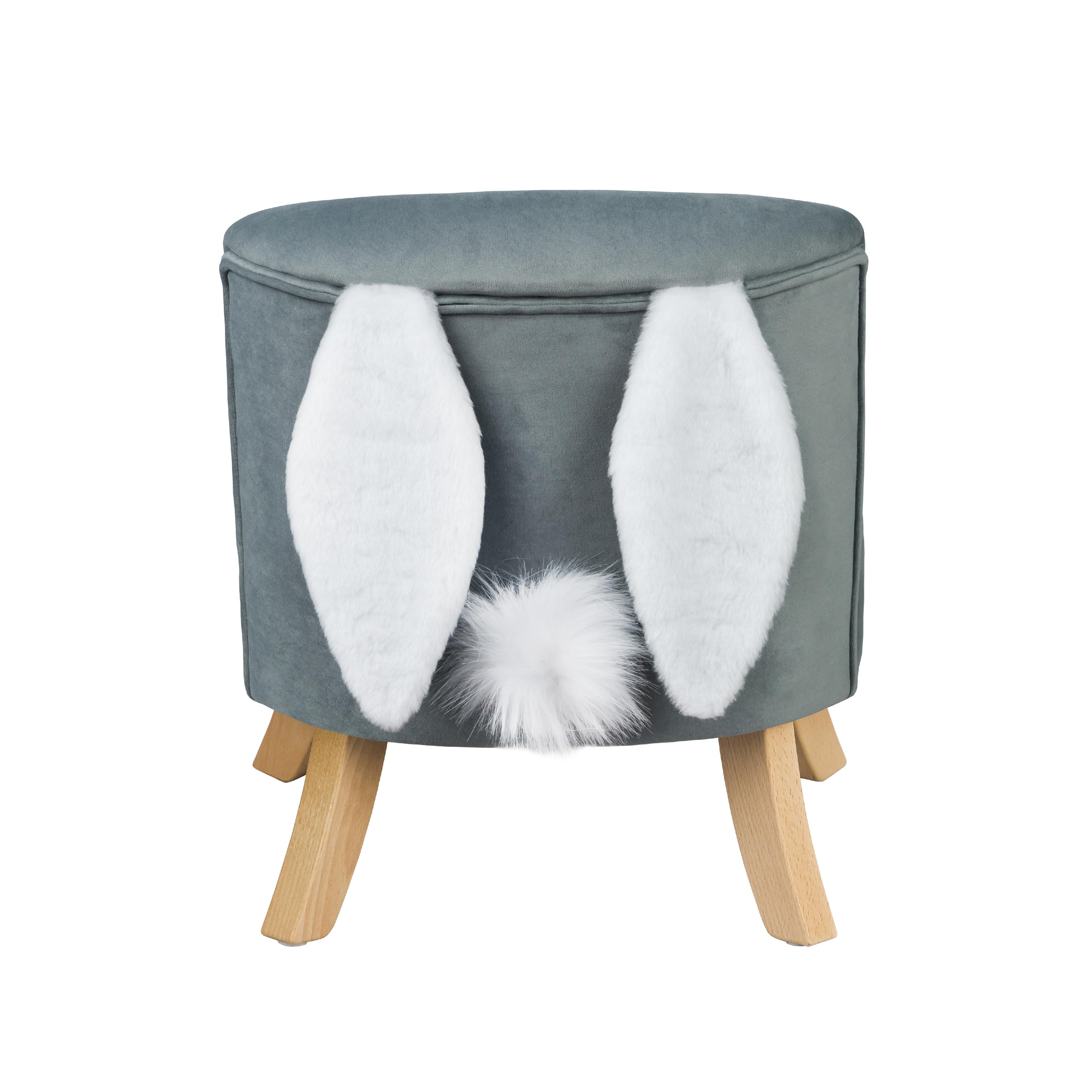 ArtSB Kreslo Bunny s ušami Prevedenie: Kreslo s hnedými 17 cm nohami