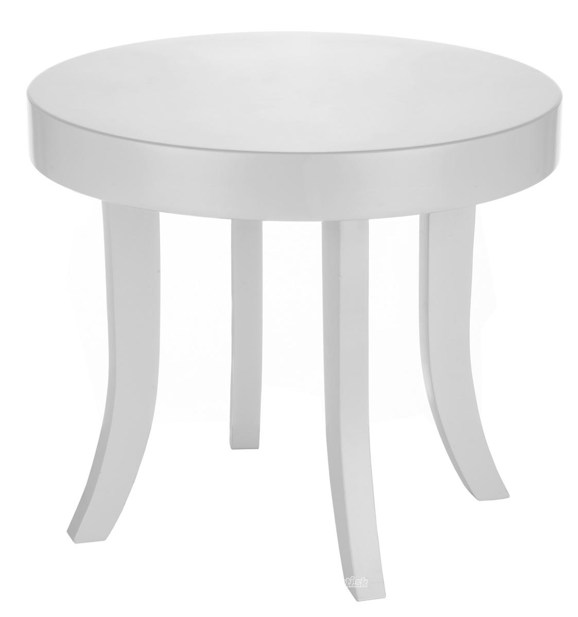 ArtSB Okrúhly stolík Bunny Prevedenie: Stolík s bielymi 37 cm nohami