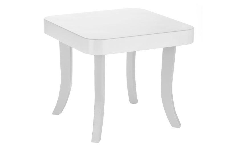 ArtSB Štvorcový stolík Bunny Prevedenie: Stolík s bielymi 37 cm nohami