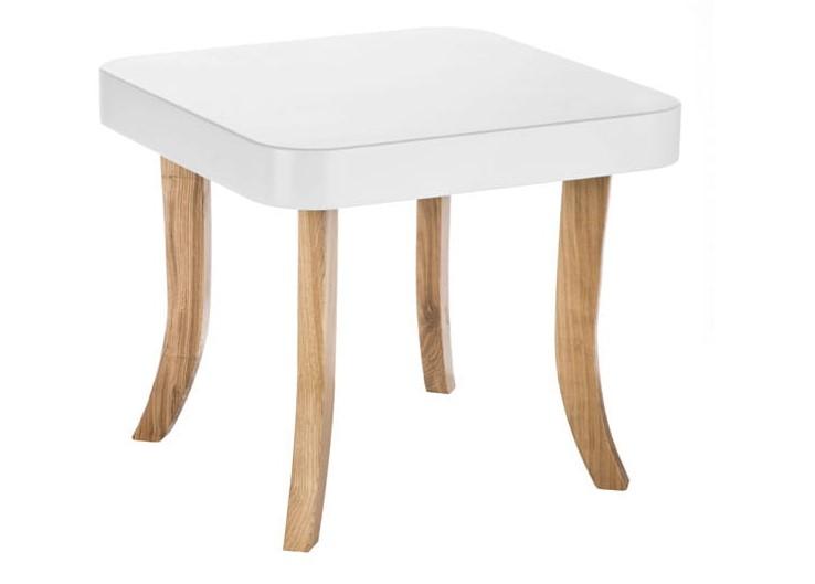 ArtSB Štvorcový stolík Bunny Prevedenie: Stolík s hnedými 37 cm nohami