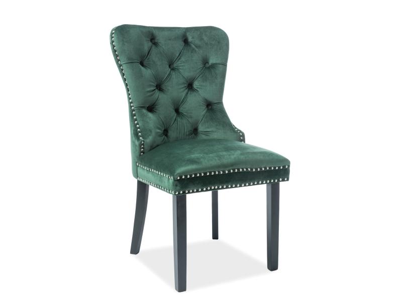 Signal Jedálenská stolička AUGUST VELVET Farba: Zelená