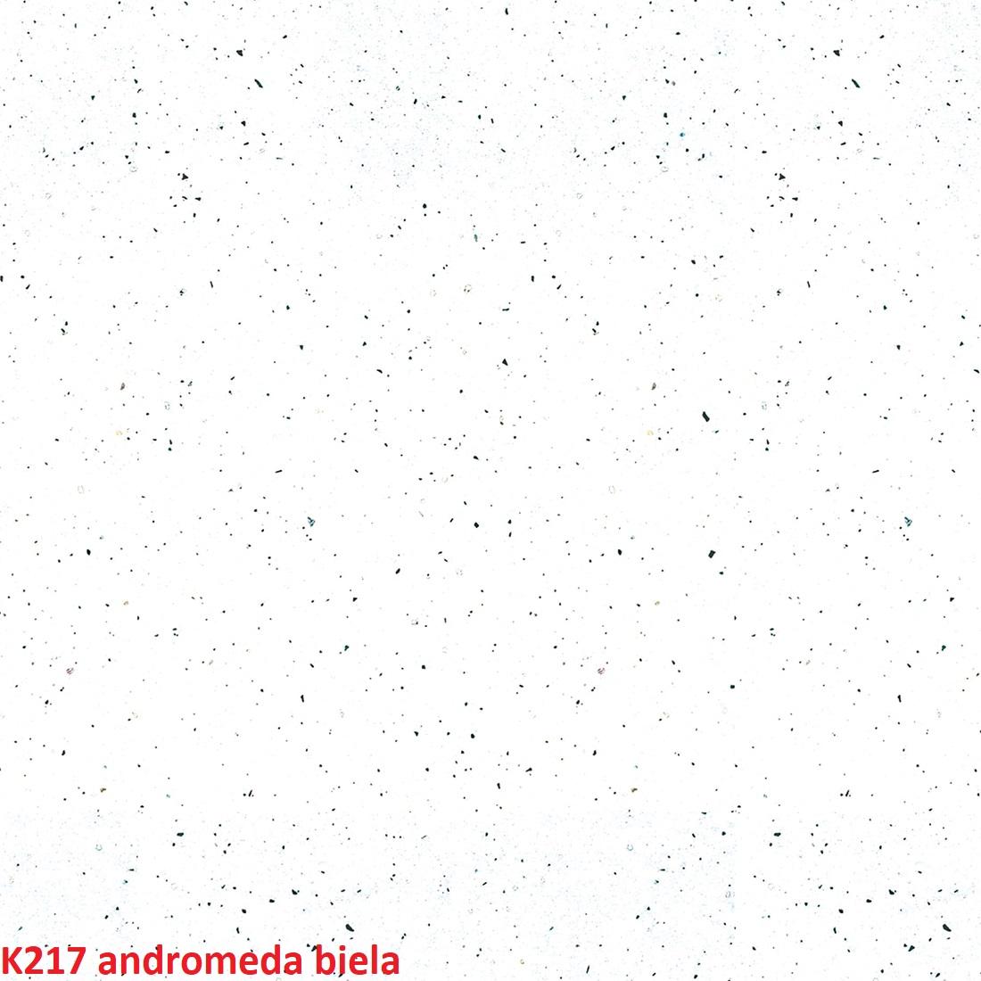 ArtExt Zástena za kuchynskú linku 38 mm: Andromeda biela K217 GG