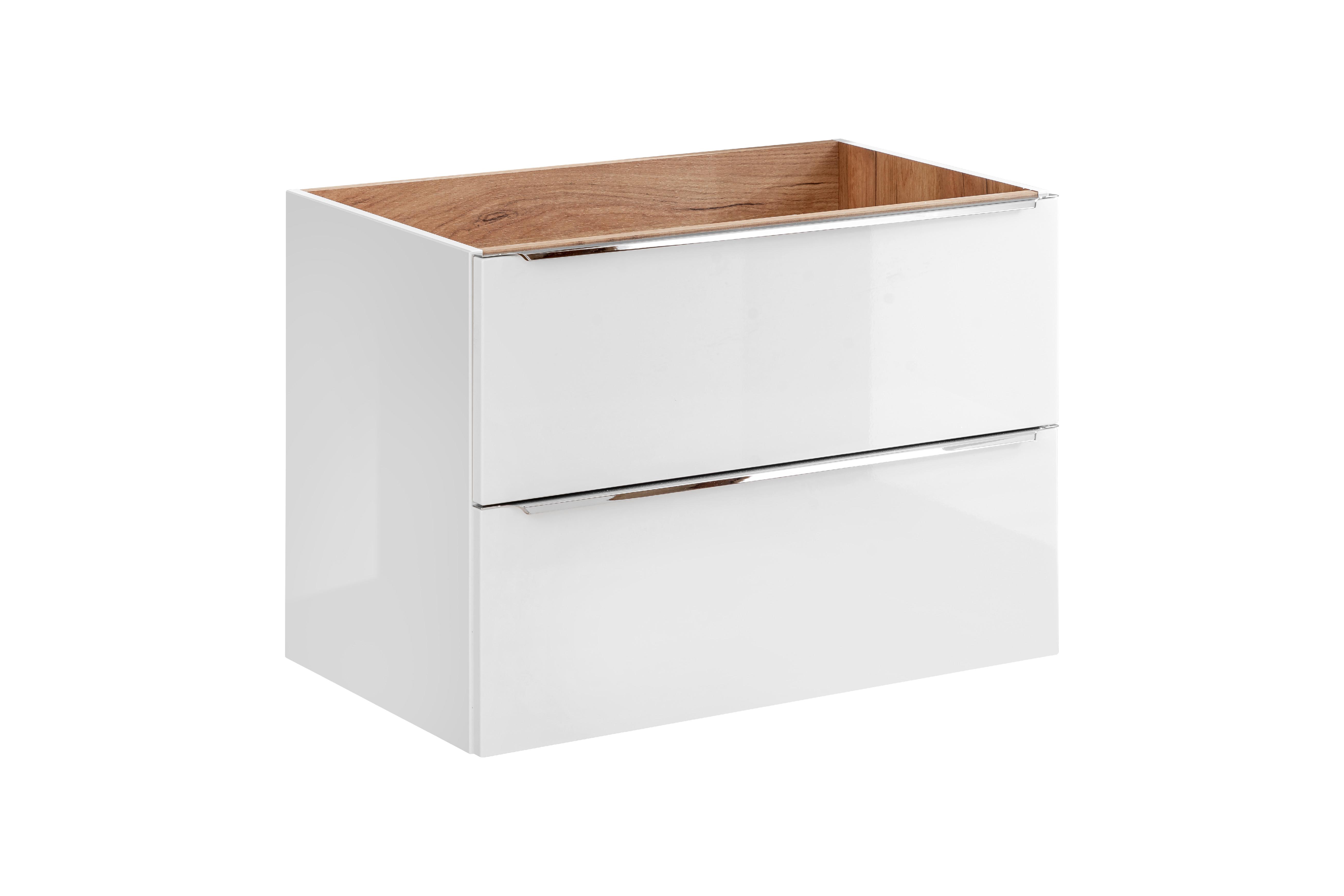 ArtCom Kúpeľňová zostava Capri | biela Capri | biela: Skrinka pod umývadlo 821 - 80 cm