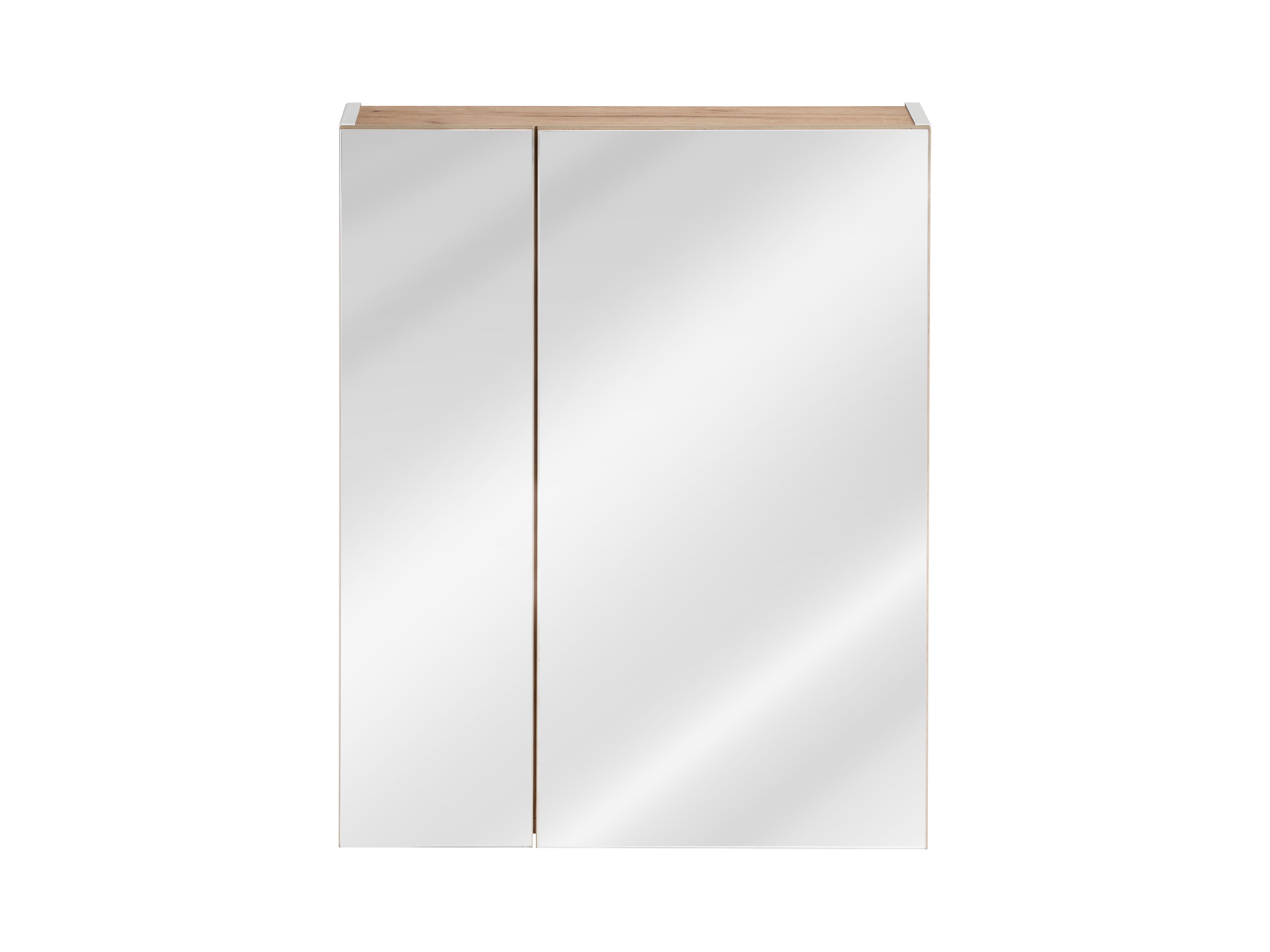ArtCom Kúpeľňová zostava Capri | biela Capri | biela: Horná zrkadlová skrinka 842 - 60 cm
