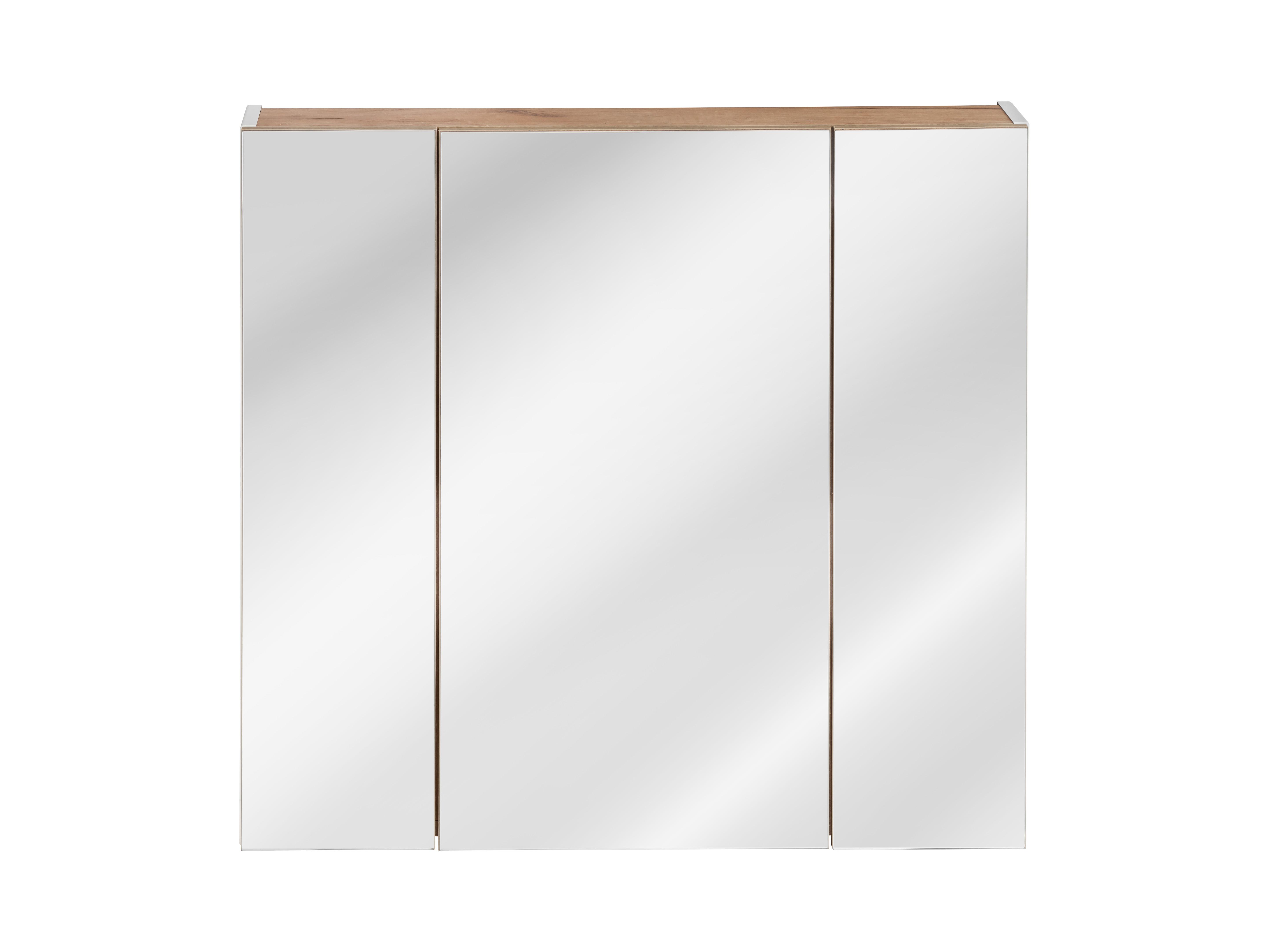ArtCom Kúpeľňová zostava Capri | biela Capri | biela: Horná zrkadlová skrinka 843 - 80 cm