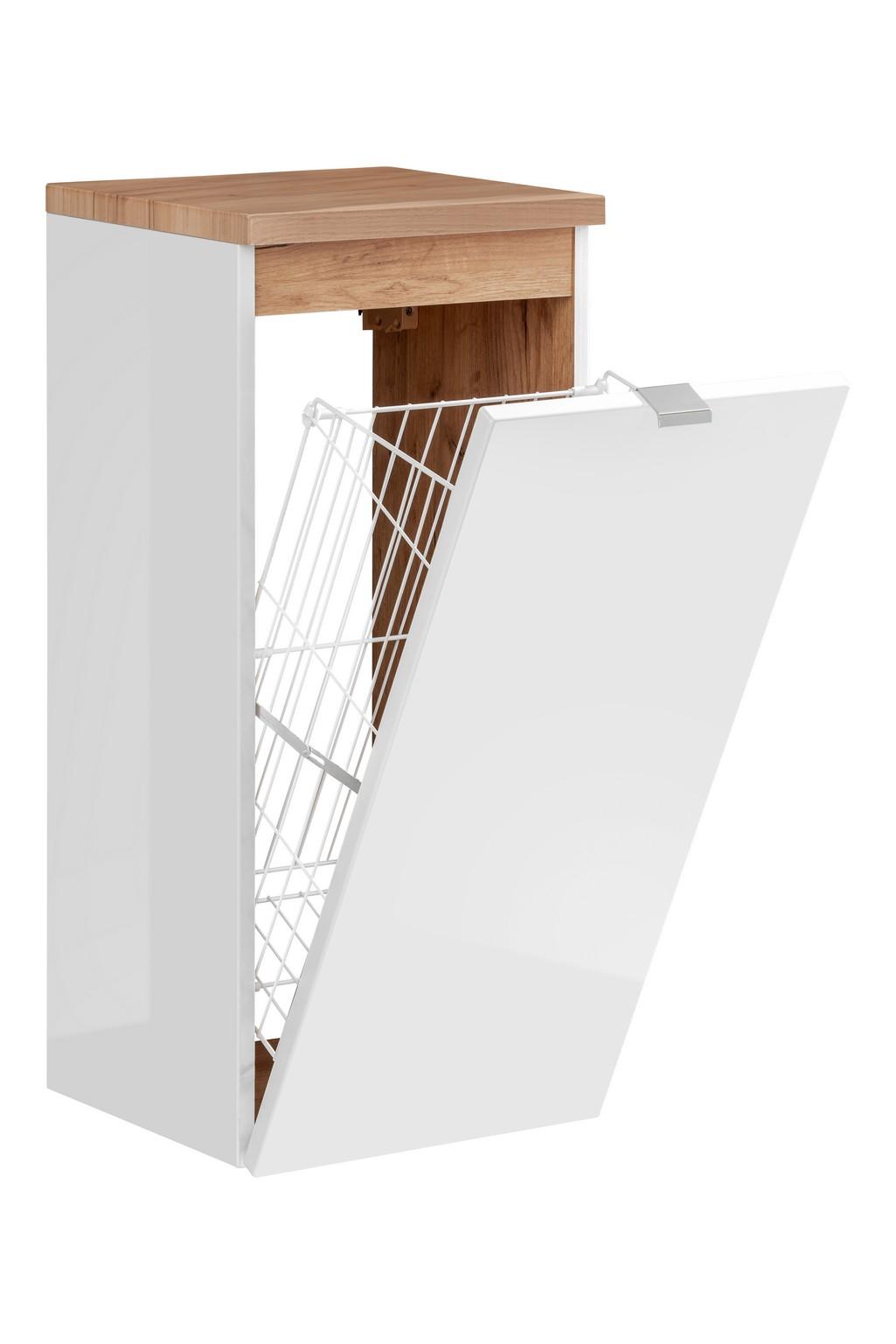 ArtCom Kúpeľňová zostava Capri   biela Capri   biela: Nízka spodná skrinka s košom 811