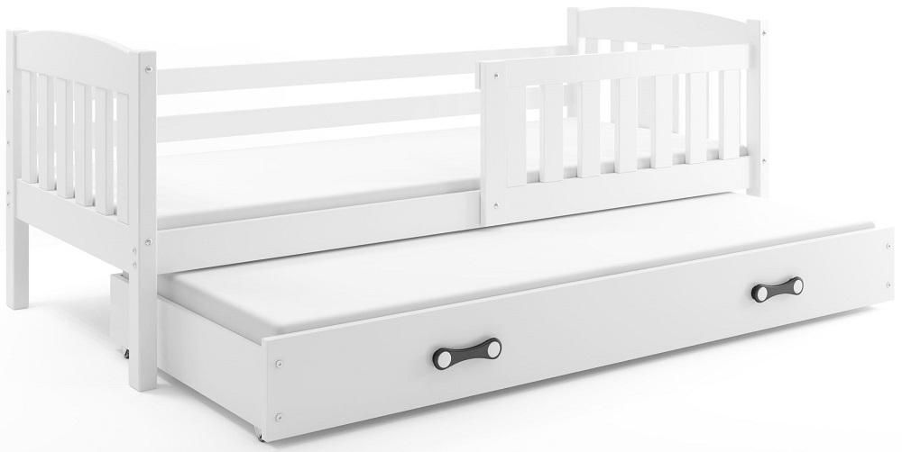 BMS Detská posteľ Kubuš s prístelkou / biela Farba: Biela / biela, Rozmer.: 200 x 90 cm