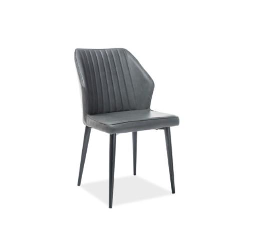 Signal Jedálenská stolička APOLLO Farba: Ekokože / Sivá