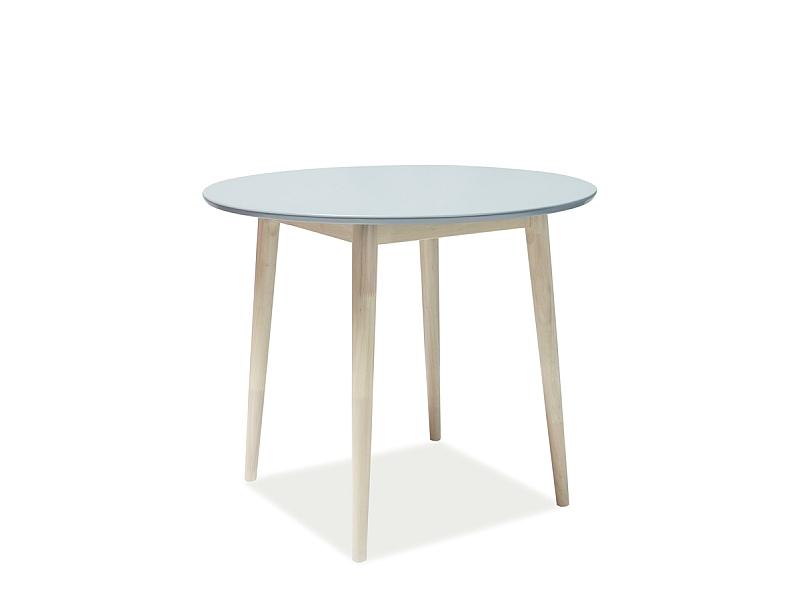 Signal Okrúhly jedálenský stôl LARSON / sivý