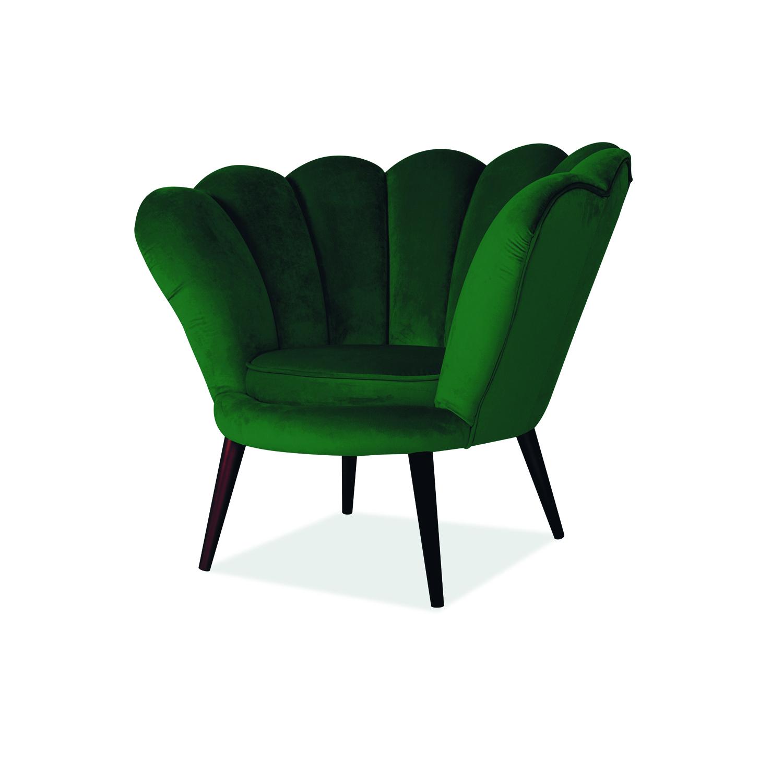 Signal Kreslo MAGNOLIA Velvet wenge Farba: Zelená
