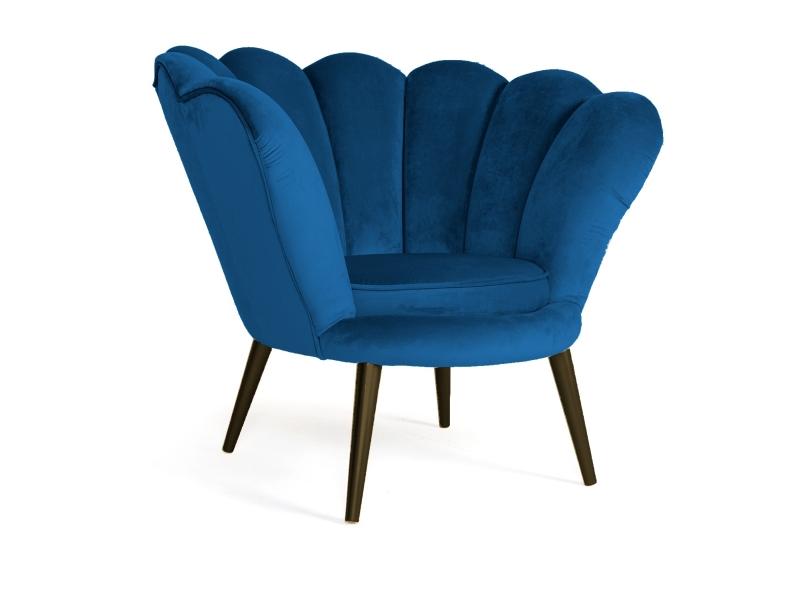 Signal Kreslo MAGNOLIA Velvet wenge Farba: Modrá