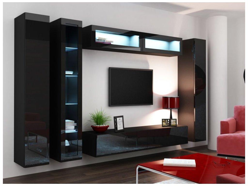 Artcam Obývacia stena Vigo VI Farba: Čierna/čierny lesk