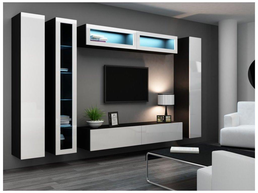 Artcam Obývacia stena Vigo VI Farba: čierna/biely lesk