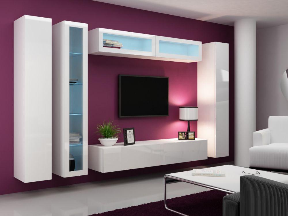 Artcam Obývacia stena Vigo VI Farba: Biela/biely lesk