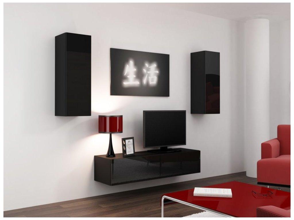 Artcam Obývacia stena Vigo VII Farba: Čierna/čierny lesk
