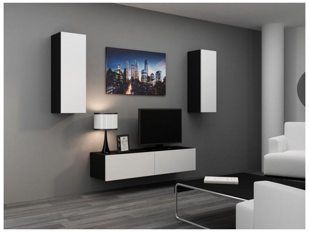 Artcam Obývacia stena Vigo VII Farba: čierna/biely lesk