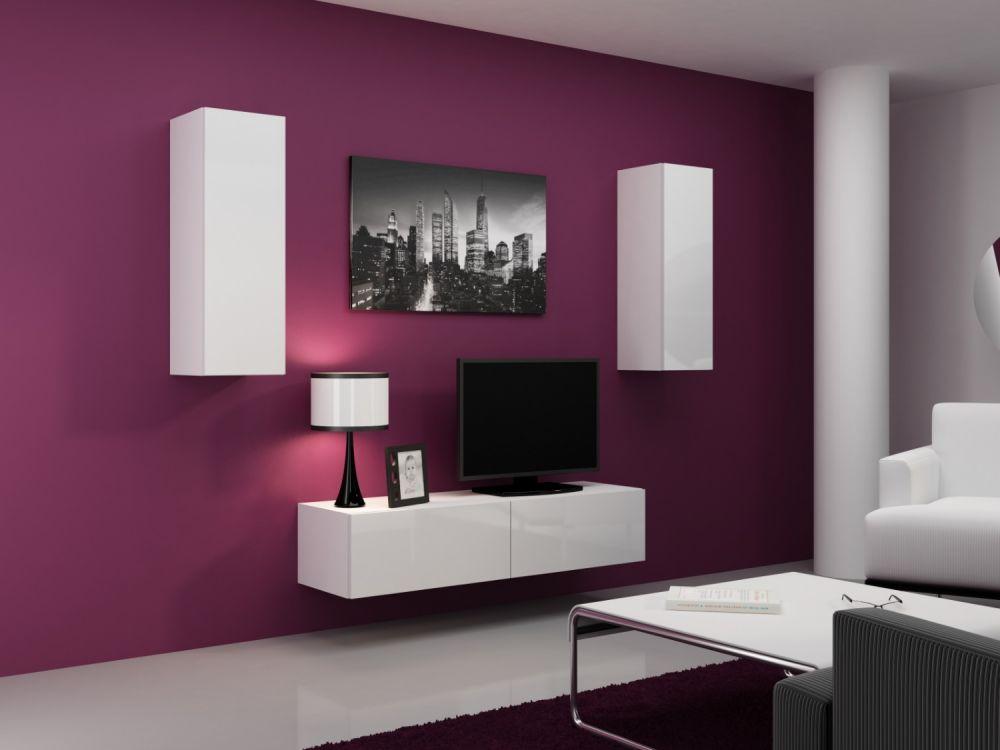 Artcam Obývacia stena Vigo VII Farba: Biela/biely lesk