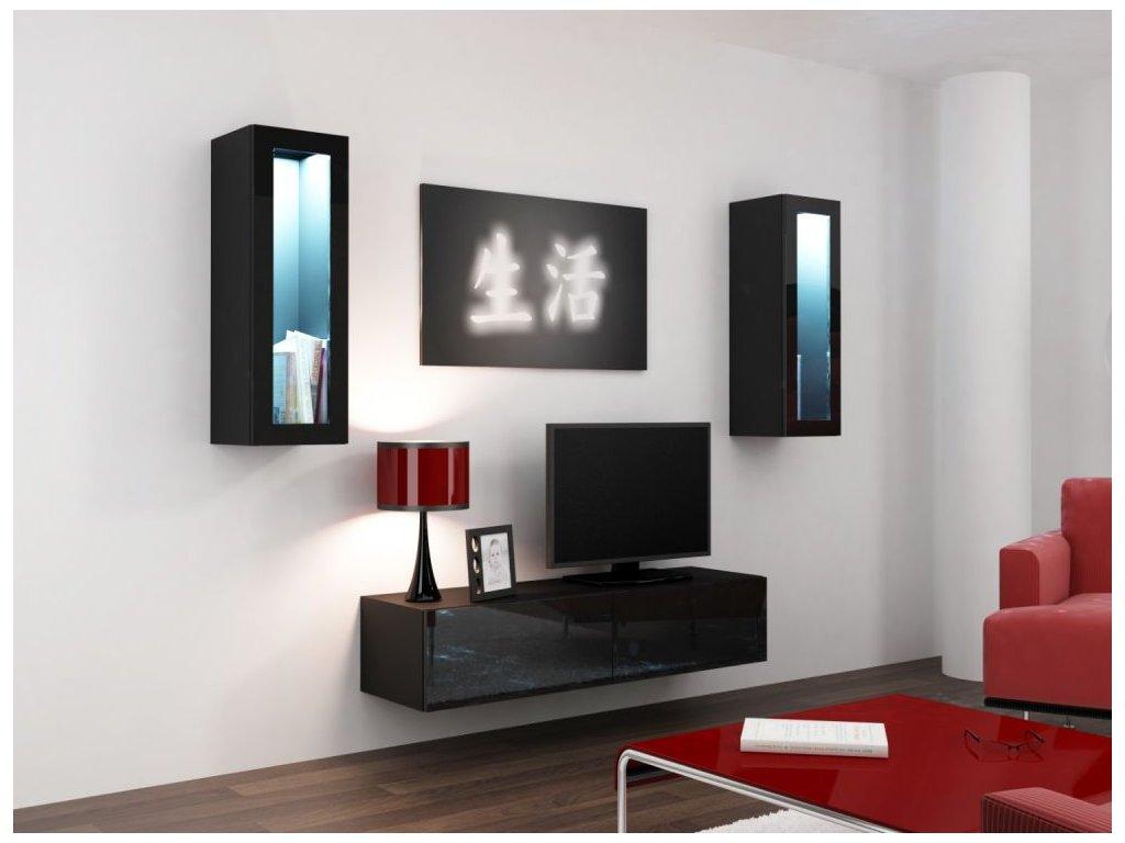 Artcam Obývacia stena Vigo VIII Farba: Čierna/čierny lesk