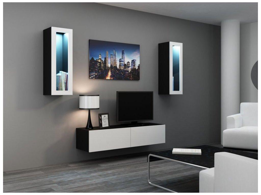 Artcam Obývacia stena Vigo VIII Farba: čierna/biely lesk