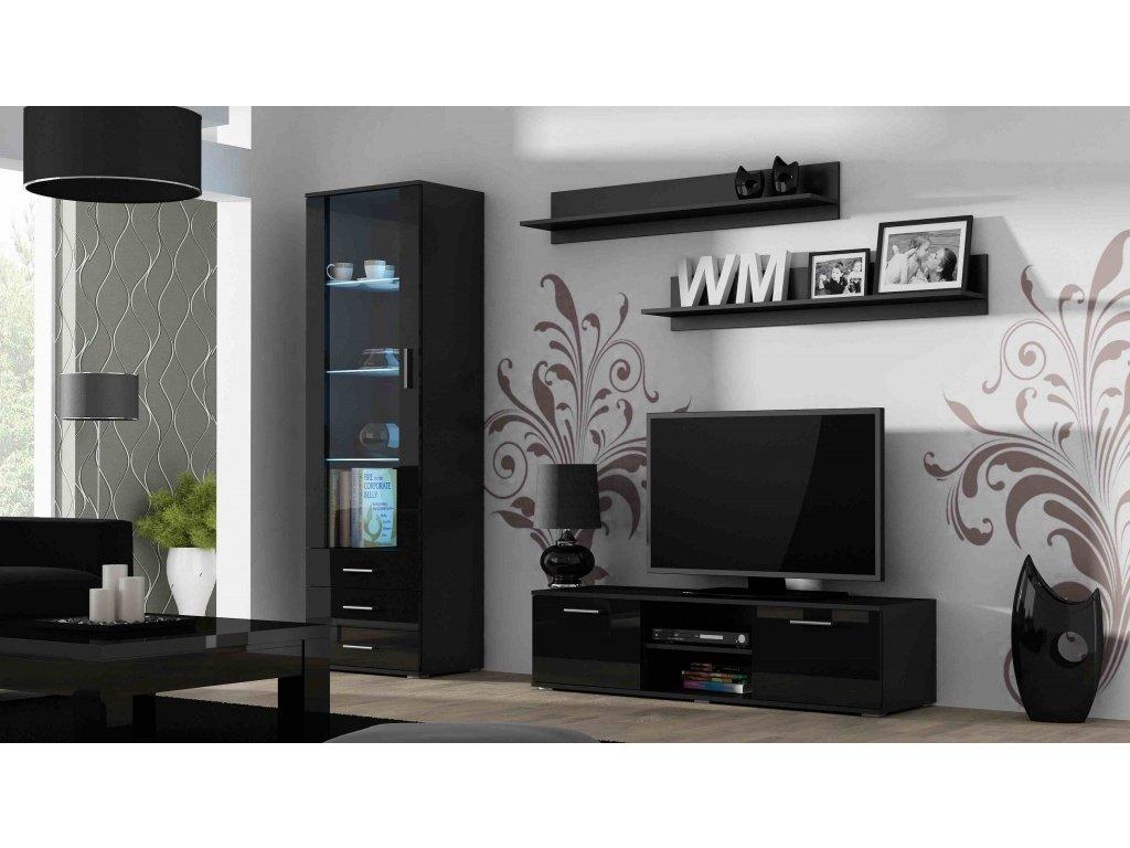 Artcam Obývacia stena Soho 7 Farba: Čierna/čierny lesk
