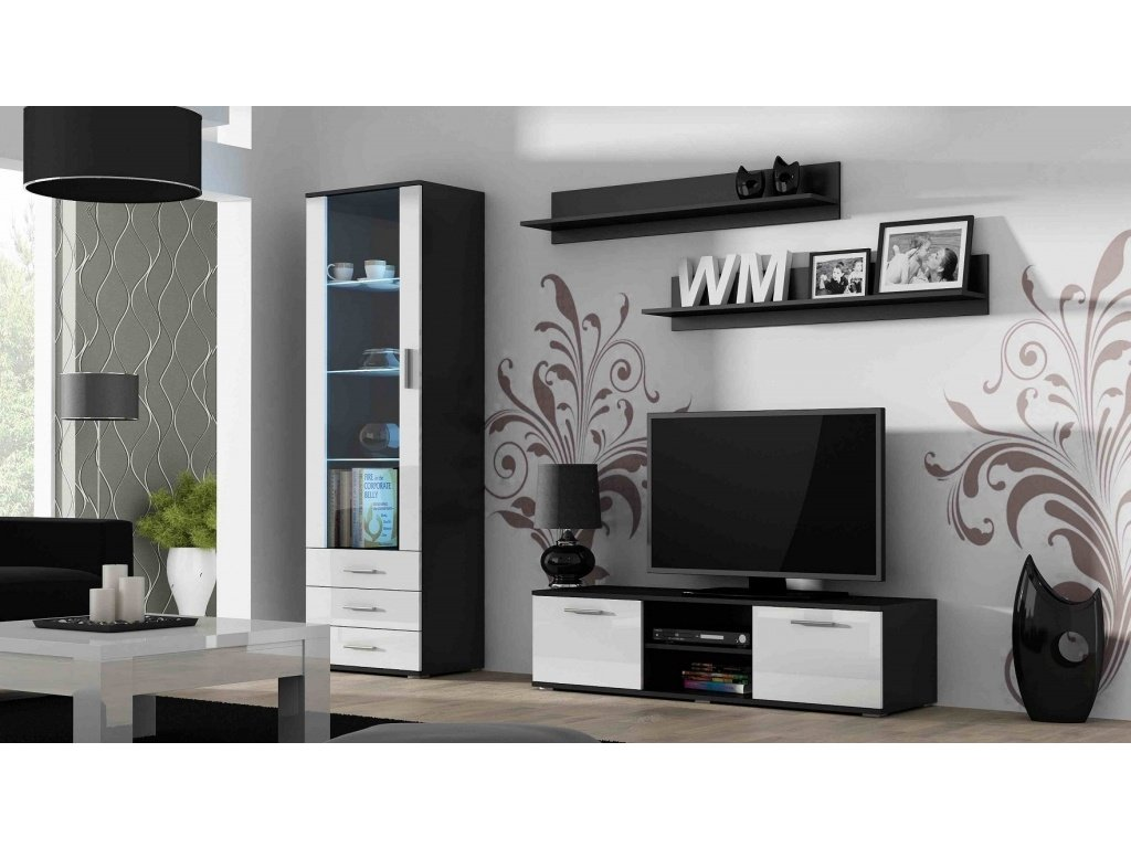 Artcam Obývacia stena Soho 7 Farba: čierna/biely lesk