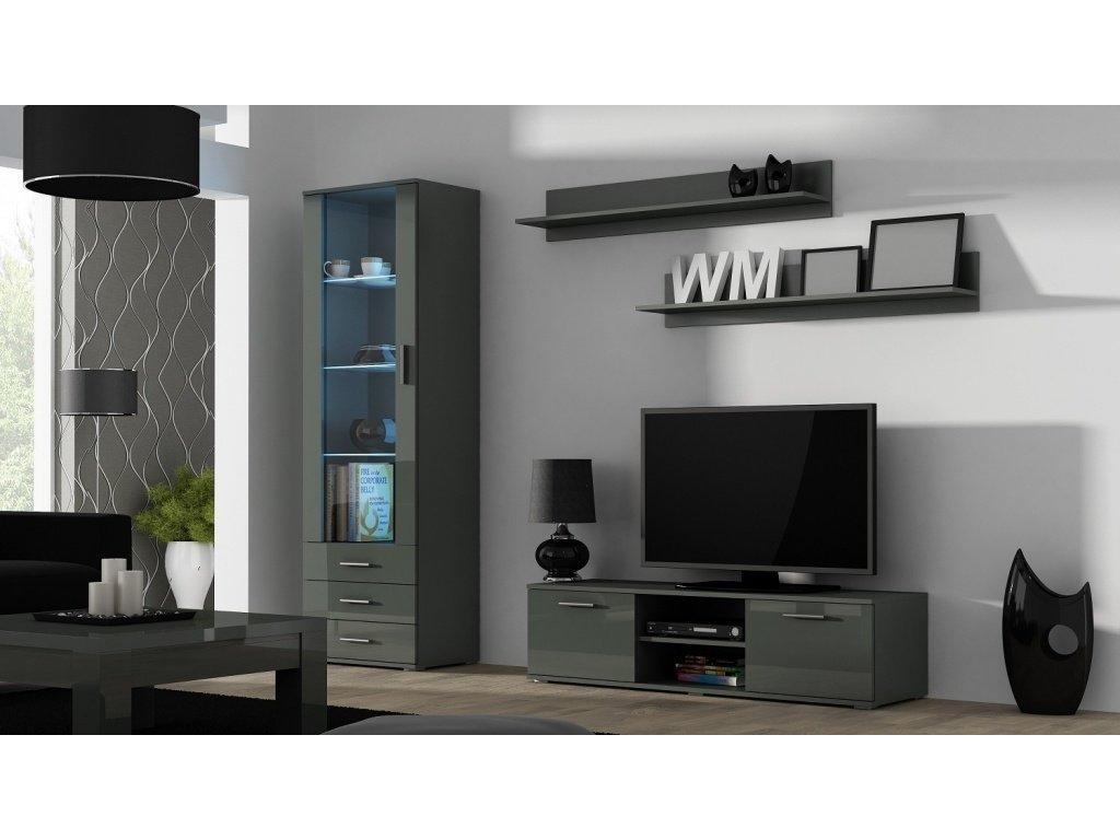 Artcam Obývacia stena Soho 7 Farba: Sivá/sivý lesk