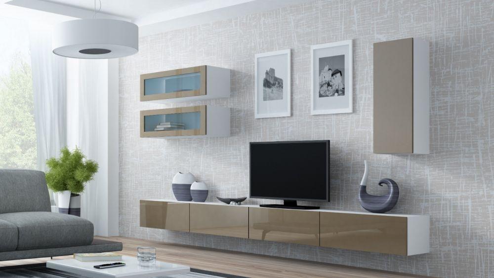 Artcam Obývacia stena Vigo 11 biela/latté lesk