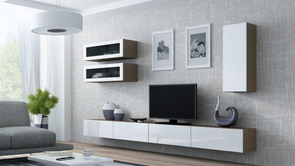 Artcam Obývacia stena Vigo 11 latté/biely lesk