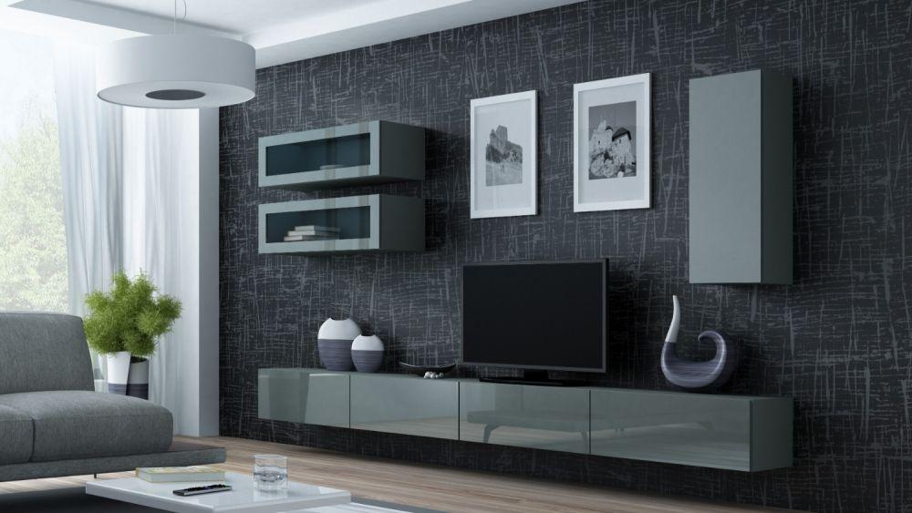 Artcam Obývacia stena Vigo 11 sivá/sivý lesk