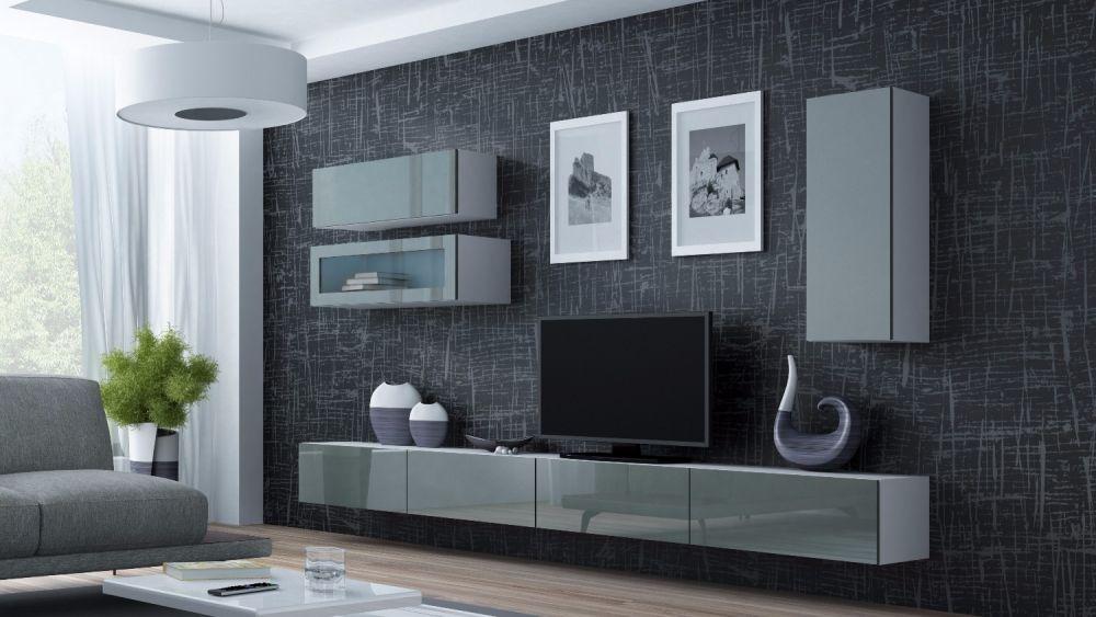 Artcam Obývacia stena Vigo 12 biela/sivá