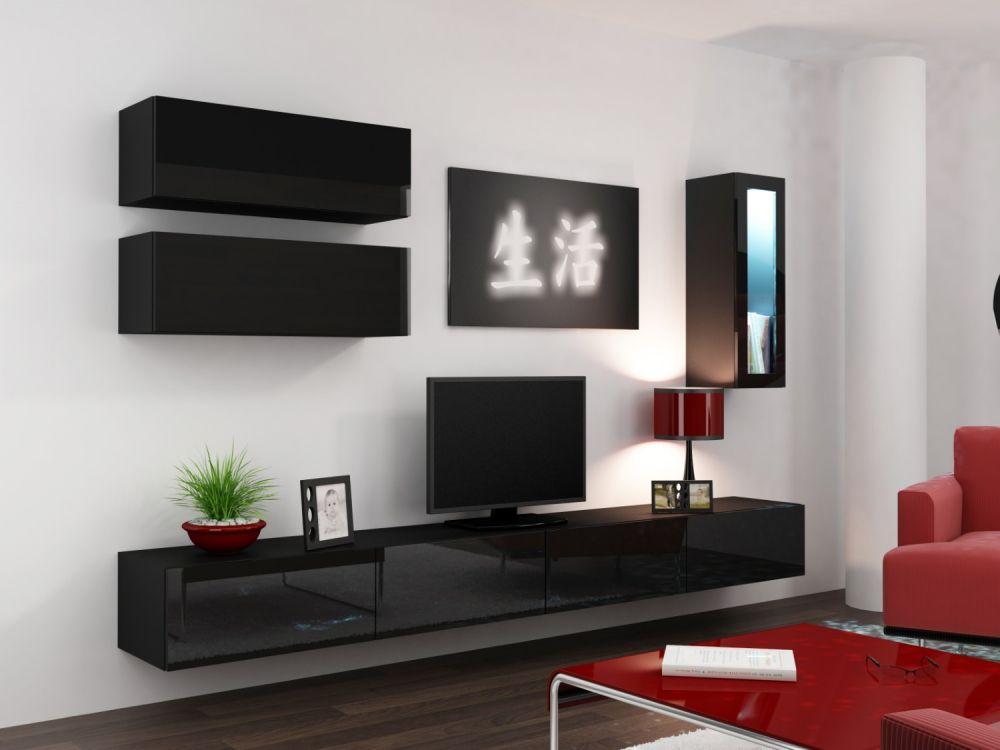 Artcam Obývacia stena Vigo 12 čierna