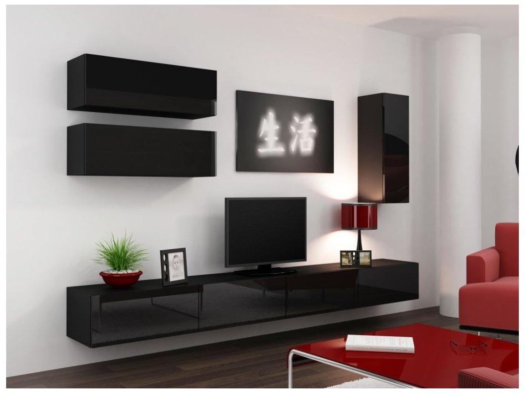 Artcam Obývacia stena Vigo 13 Farba: Čierna/čierny lesk