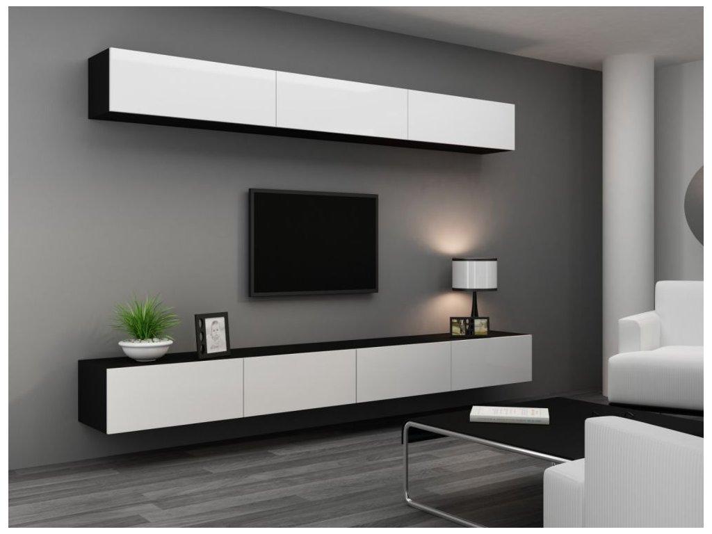 Artcam Obývacia stena Vigo 13 Farba: čierna/biely lesk