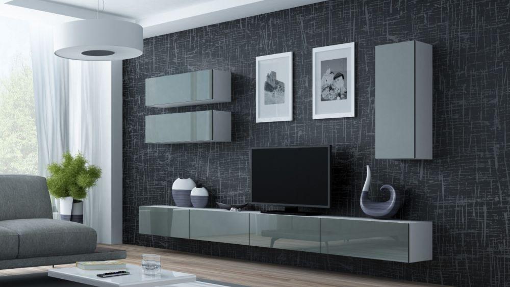 Artcam Obývacia stena Vigo 13 biela/sivá
