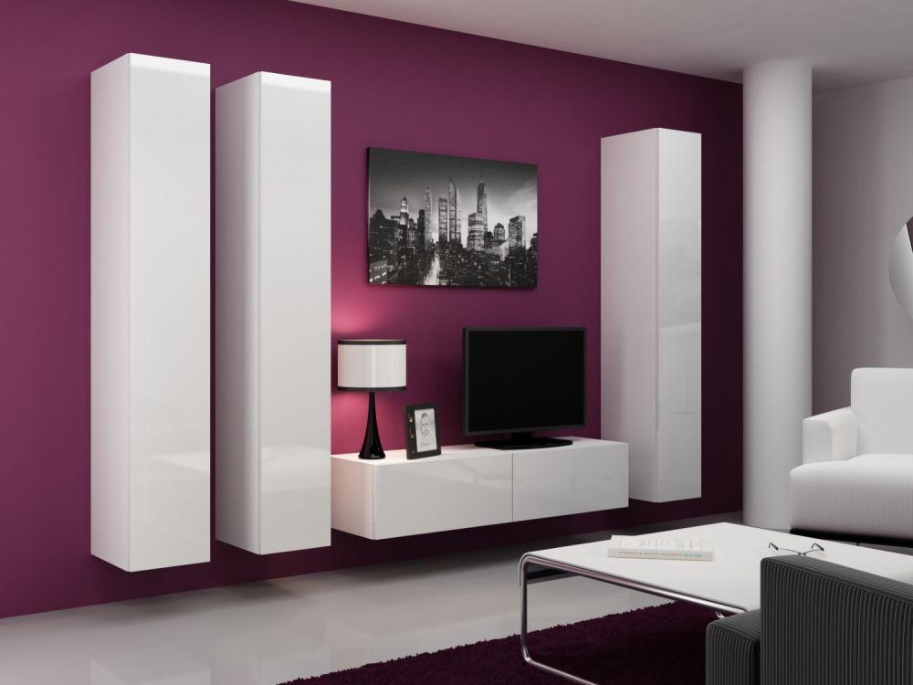Artcam Obývacia stena VIGO 14 biela / biela