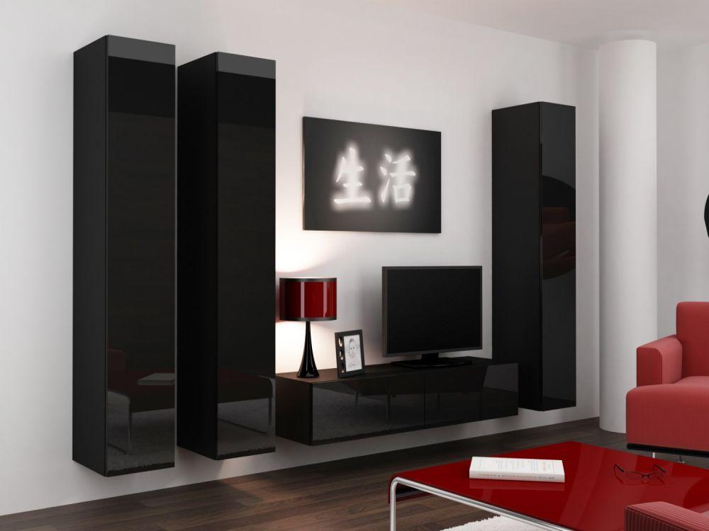 Artcam Obývacia stena VIGO 14 čierna