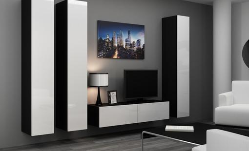 Artcam Obývacia stena VIGO 14 čierna/biela