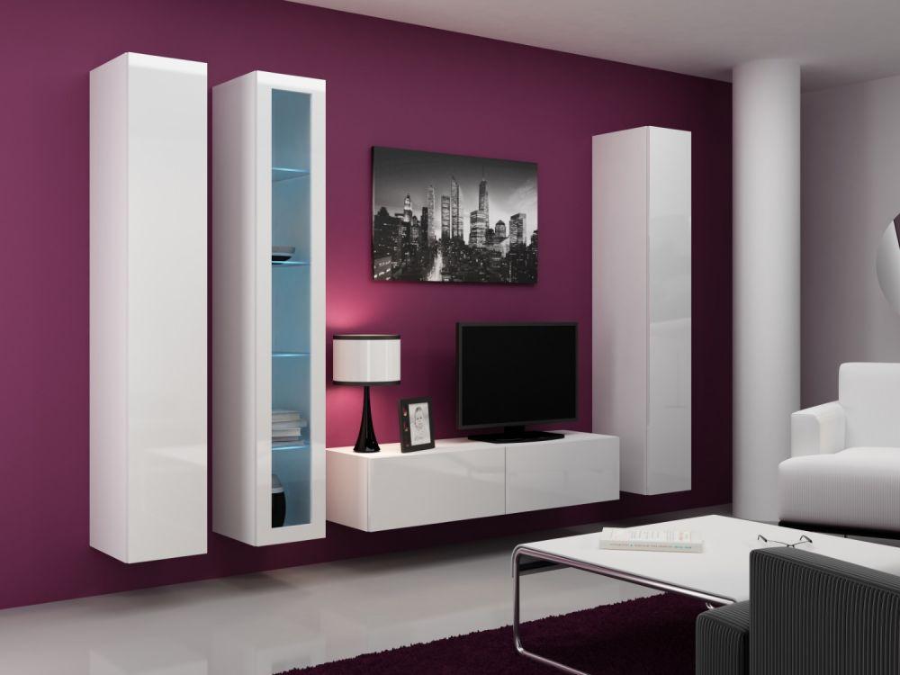 Artcam Obývacia stena VIGO 15 biela / biela