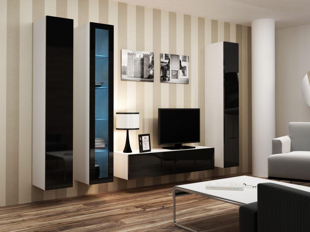 Artcam Obývacia stena VIGO 15 biela / čierna