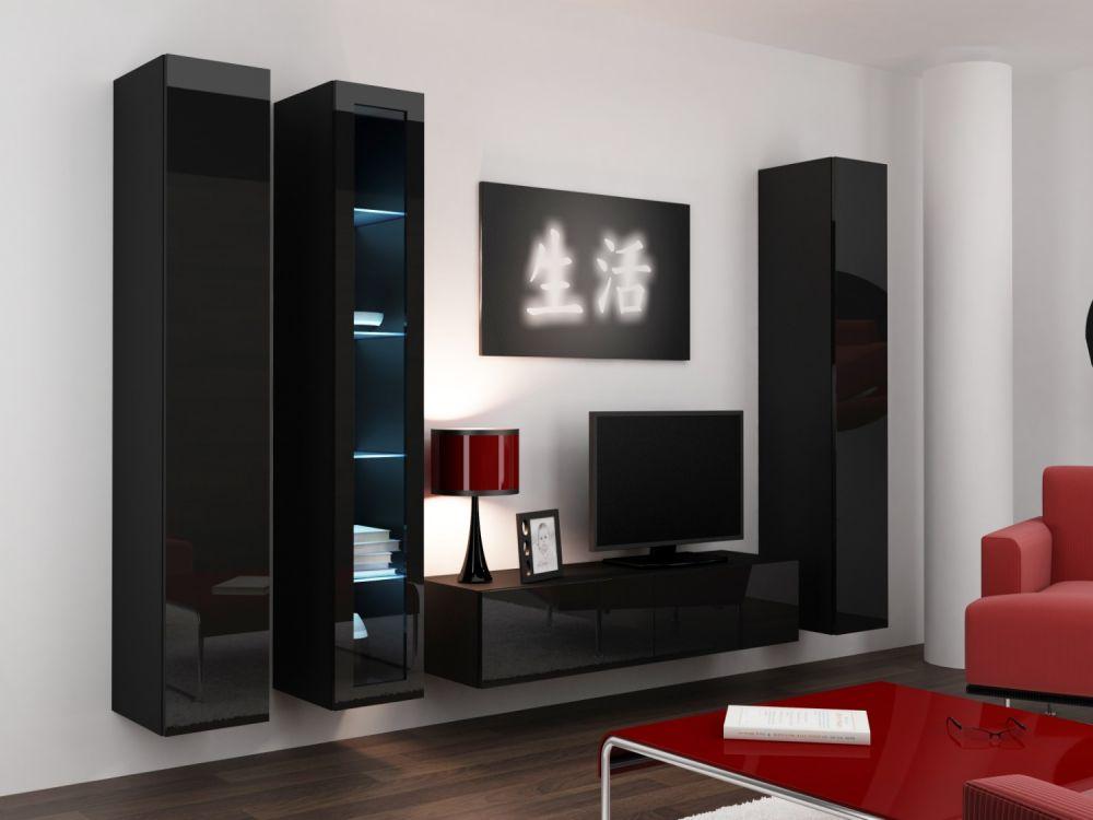 Artcam Obývacia stena VIGO 15 čierna