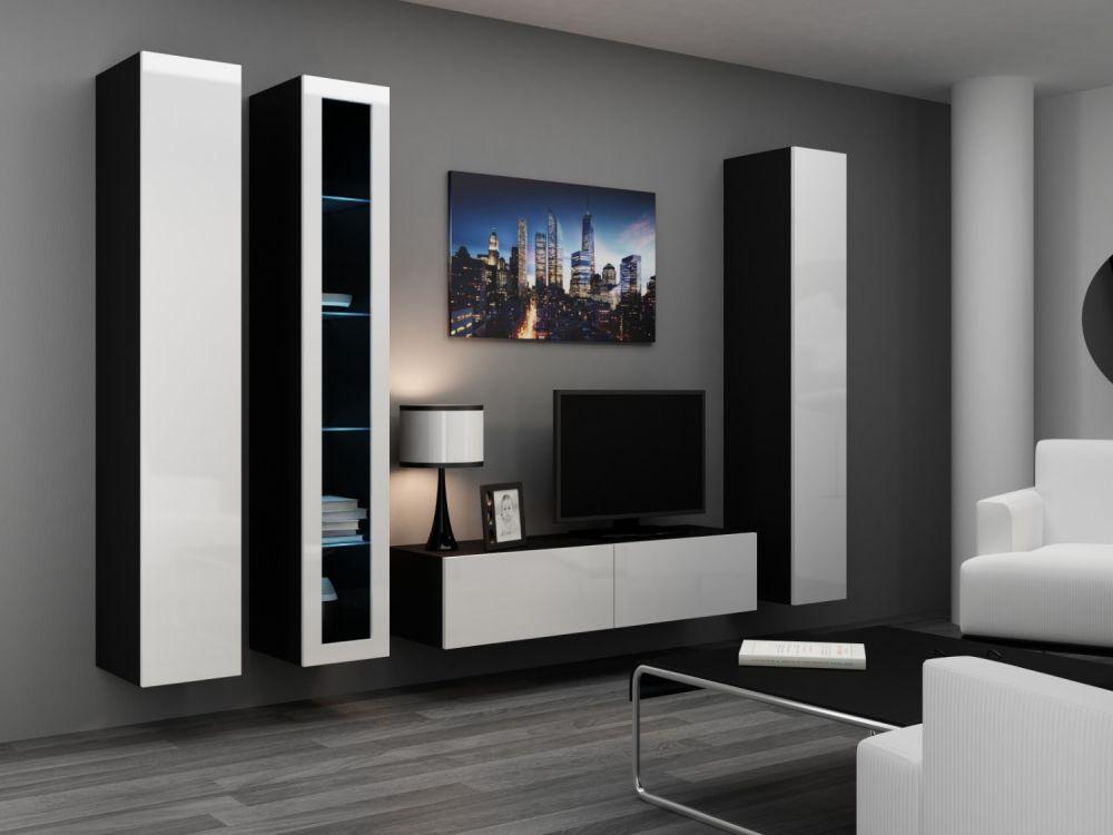 Artcam Obývacia stena VIGO 15 čierna/biela