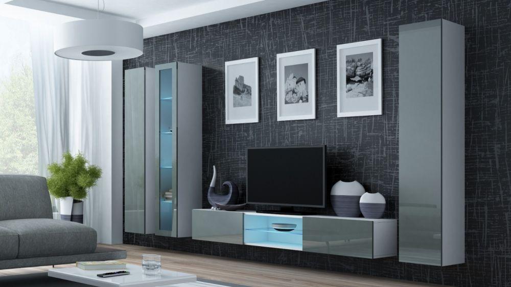 Artcam Obývacia stena Vigo 17 biela/sivá