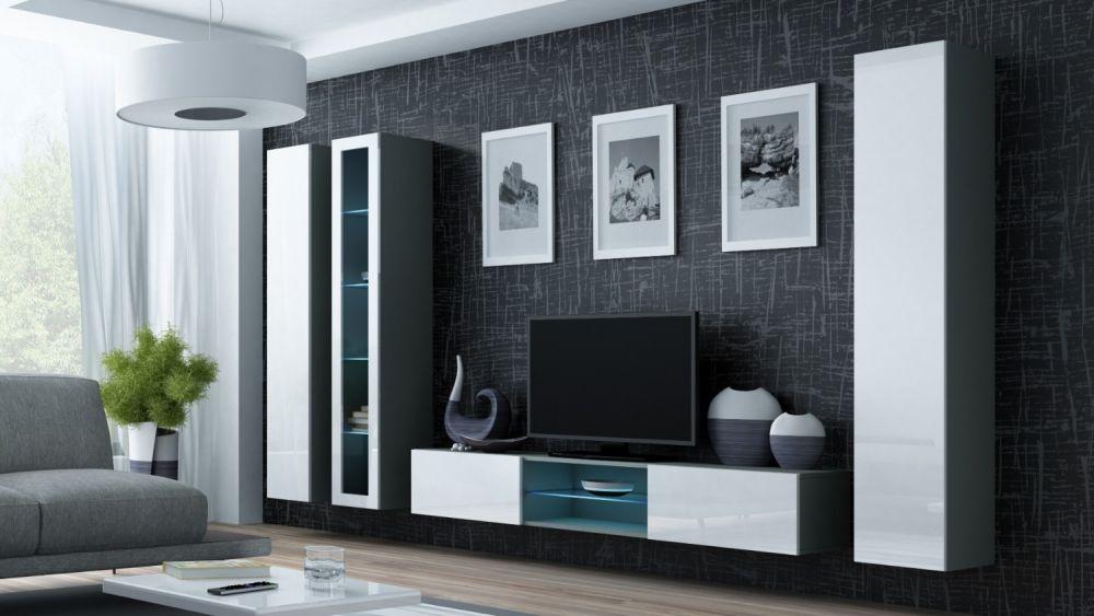 Artcam Obývacia stena Vigo 17 sivá/biela
