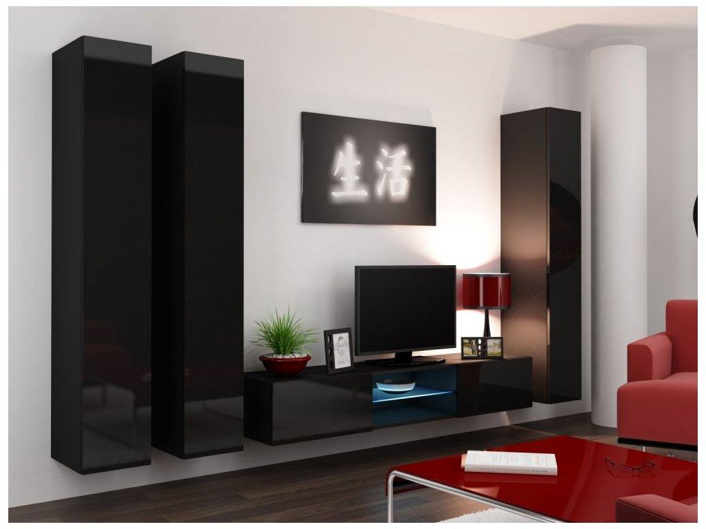 Artcam Obývacia stena Vigo 18 Farba: Čierna/čierny lesk