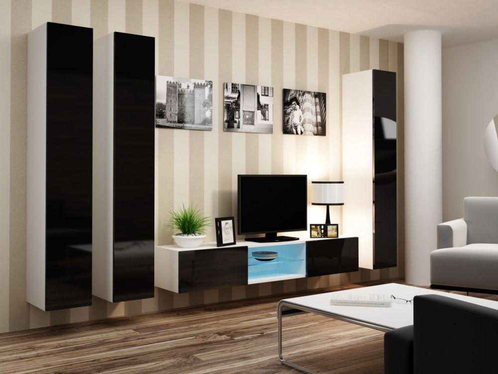 Artcam Obývacia stena Vigo 18 biela/čierna